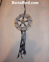 spider web pentacle dream catcher
