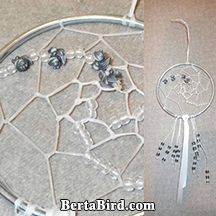 dream catcher with baby dragon beads