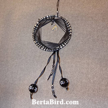 black cat dream catcher