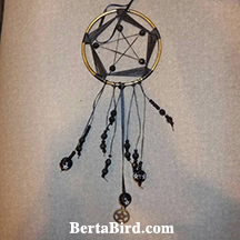 black pentacle dream catcher