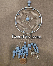 blue bubbles dream catcher
