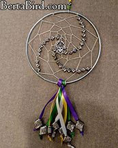 mardi gras dream catcher